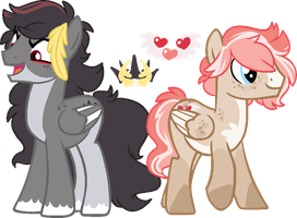 Shady Crown and Quick Heart by FossilFoal