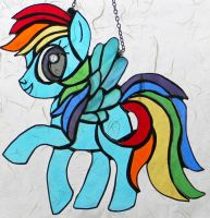 Rainbow Dash Stained Glas by GhostyBoo