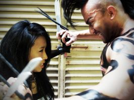 Daken vs X-23 by Crimson-Shirou
