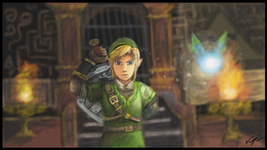 Legend Of Zelda: Link - Wii U (Art Academy) by sugushmeaky