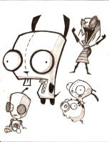Invader Zim and Gir by planedreamer