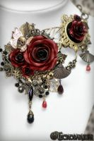 Versailles Rose Necklace 1 Detail 2 by Necrosarium
