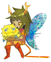 vriska and joltik by milkybee