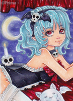 Aceo nr. 40 Beautyful Vampire by Primarella