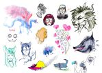 Croquis - Divers personnages by w-shayler