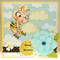 Bee Girl Rubber Stamp by mashi