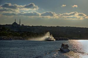 Sunset at Goldenhorn by ganara