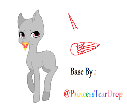 My Pizza! - F2U MLP MS Paint Base - TD by PrincessTearDrop