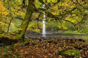 South Falls in Autumn by La-Vita-a-Bella