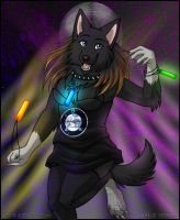 Nara in Disco by Zerwolf