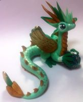 Gold and mint by HandmadeDragons