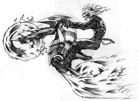 Ghost Rider's New Bike by andinobita