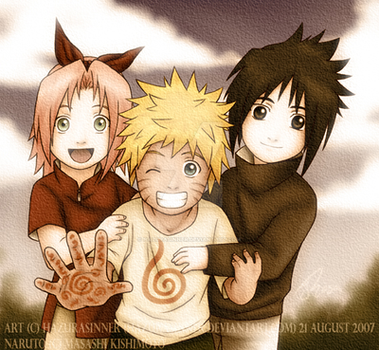 Naruto: Young Team 7 by HazuraSinner