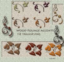 Wood foliage accents by libidules