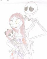 jack and sally's little girl by jackfreak1994