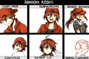 Random Red(s) by AnimeandCartoonFan