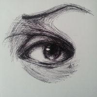 Eye Sketch with Ink by MidnightXShimmer