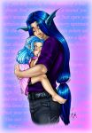 Father and daughter by RizzaJax