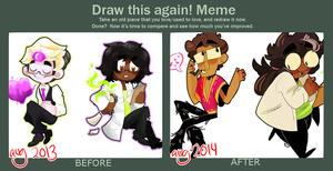 DRAW THIS AGAIN: one year later. by crovvn