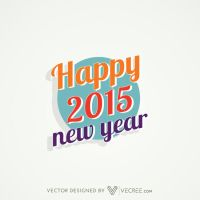Funky Colorful Happy New Year Design Free Vector by vecree
