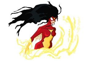 Spider-Woman geometry by triple6punkie