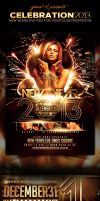 New-Years-Eve 2013 Celebration PSD Flyer Template  by yAniv-k