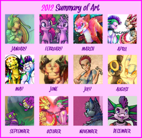 2012 Art Summary! by Yo-Angie