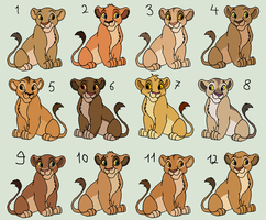 Female lion cub adoptables - OPEN by Sah-Adopts