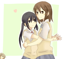 Yui and Azusa by Roos-Vicee