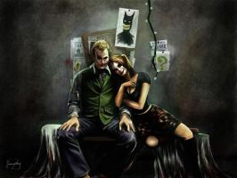 Dark Knight: Joker and Harley Quinn - Clown Couple by Falln4DarkAngel
