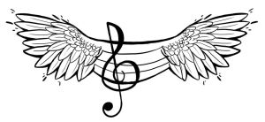 Music Wings Tattoo (Feminine) by JessCurious