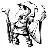 Inktober: Plague Knight by BeanyCoffee