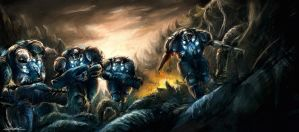 starcraft 2 marine rush by VitoSs