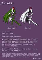 Kiletto the Puncture Pokemon by The-Clockwork-Crow