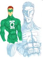Green lantern by Debarsy