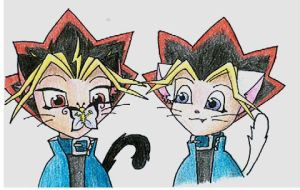 Kitties YamixYugi by Lusikka