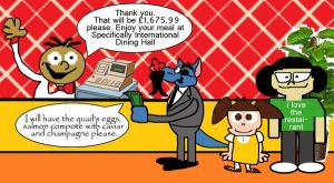 Snide, Emiko and Suzy go to The Restaurant by Granitoons