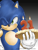 Sonic's 21st by SaturnDawn