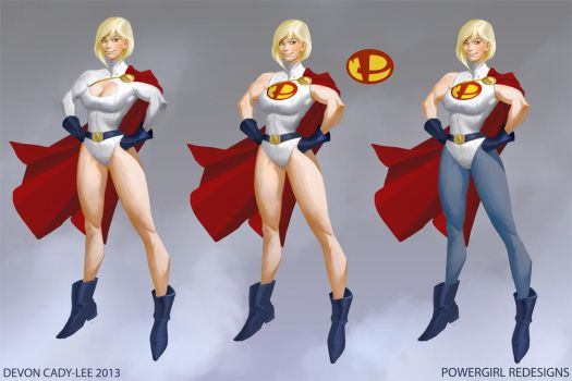 Power Girl Redesigns by Gorrem