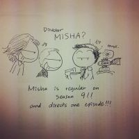 Misha the director on season 9!!!!!!!!!!!!!!! by worrynet