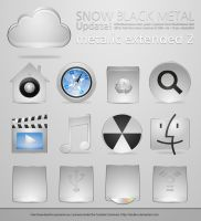 Metalic Snow Icons part 2 by sirubico