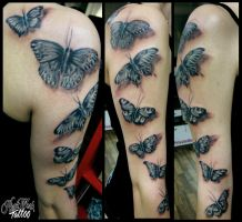 Butterflys by CAMOSartTATTOO