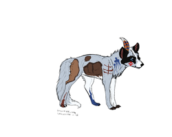 Indian Wolf :auction: [CLOSED] by FluffyKennels