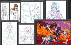 Current WIPs by Emily-Fay