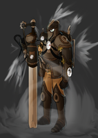 Steampunk Knight by Sc0t1n4t0r