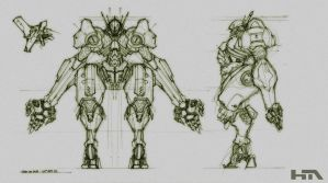 Heavy Marine mech by NuMioH