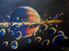 From within the rings of Saturn by LadyKylin