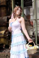 Flower girl from the slums - Aerith by xSan-chi