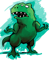 lumpy dinosaur by gsilverfish