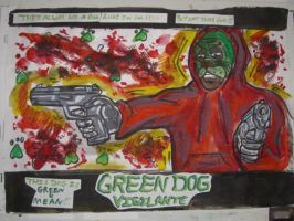 THE GREEN DOG FACE VIGILANTE movie poster 05 by ztenzila